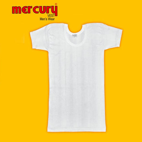 Mercury Half Sleeves Vest - White - test-store-for-chase-value