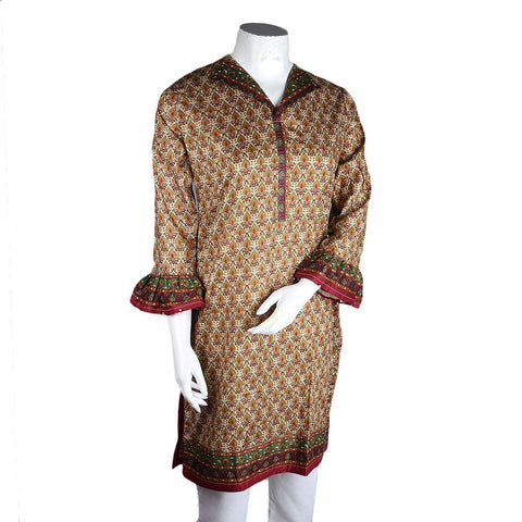 Women's Printed Lawn Kurti - Multi - test-store-for-chase-value
