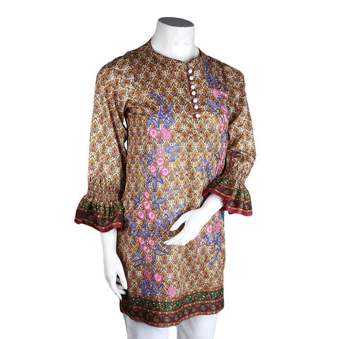 Women's Embroidered Lawn Kurti - Multi - test-store-for-chase-value