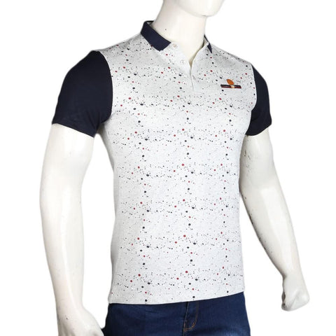 Men's Polo T-Shirts - Light Grey - test-store-for-chase-value
