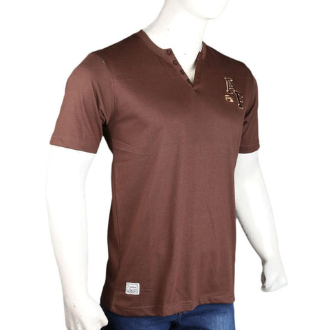 Men's T-Shirt - Dark Brown - test-store-for-chase-value