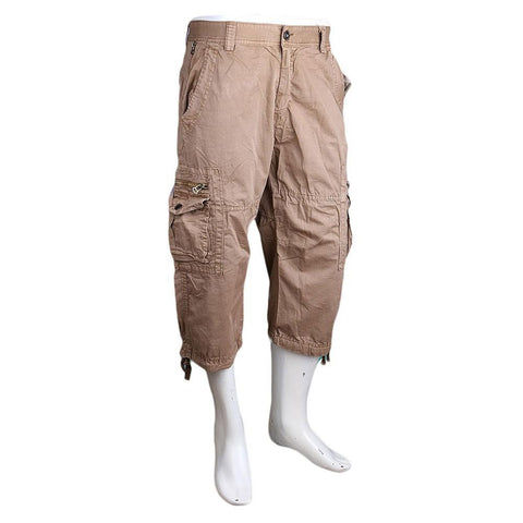 Men's 3Qtr Cargo Short - Beige - test-store-for-chase-value