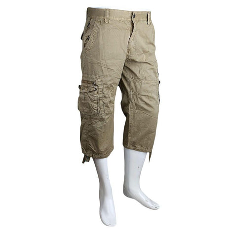 Men's 3Qtr Cargo Short - Light Brown - test-store-for-chase-value