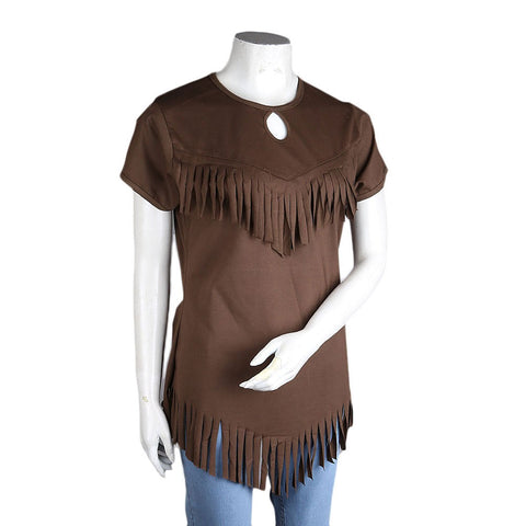 Women's Frill Top - Brown - Coffee - test-store-for-chase-value
