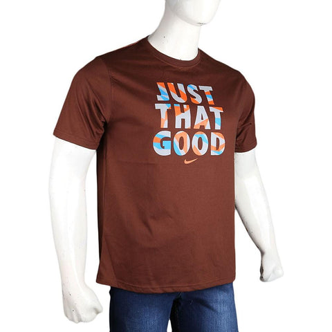 Men's Round Neck T-Shirt - Brown - Coffee - test-store-for-chase-value