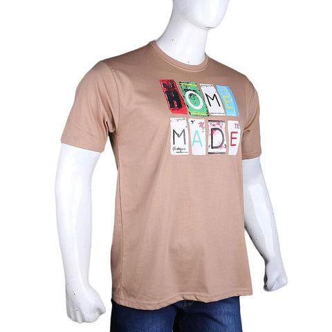 Men's Round Neck T-Shirt - Mustard - test-store-for-chase-value