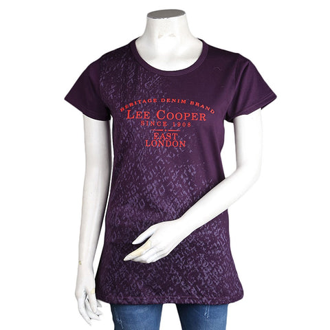 Women's Printed T-Shirt - Dark-Purple - Dark Purple - test-store-for-chase-value