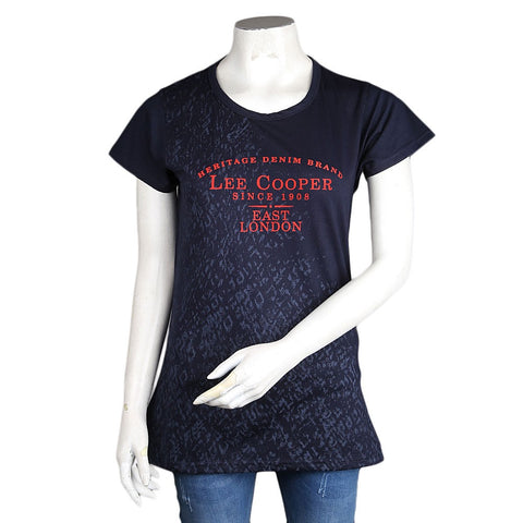 Women's Printed T-Shirt - Navy-Blue - Navy/Blue - test-store-for-chase-value