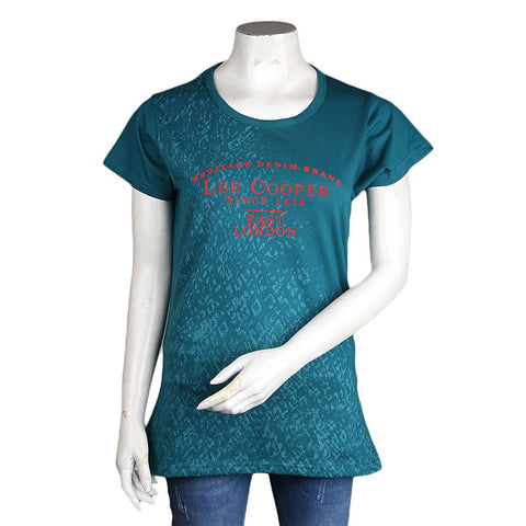 Women's Printed T-Shirt - Steel Green - test-store-for-chase-value