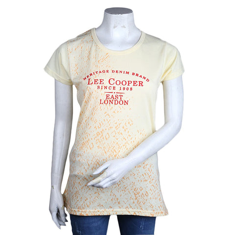 Women's Printed T-Shirt - Yellow - test-store-for-chase-value