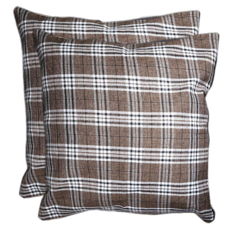 Floor Cushion Covers 2 Pcs Set - Checkered White - test-store-for-chase-value