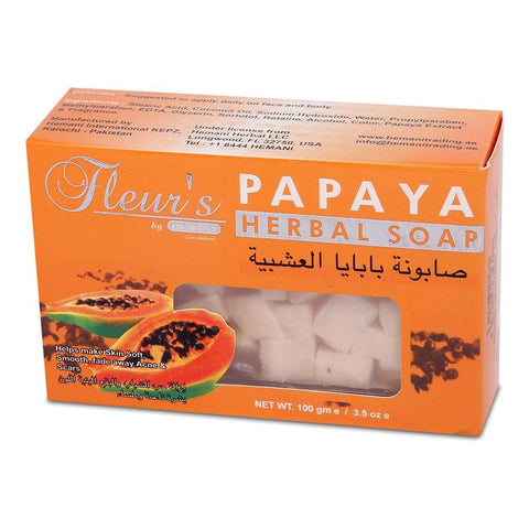Hemani Fleur's Papaya Soap - 100gm - test-store-for-chase-value
