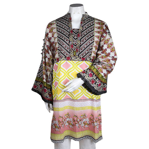Women's Printed Loose Fit Kurti - Black - test-store-for-chase-value