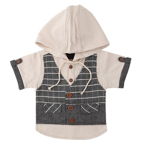 Newborn Boys Eminent Waiscoat Shirt - Grey - test-store-for-chase-value