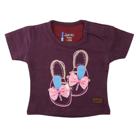 Newborn Girl's T-Shirt - Purple - test-store-for-chase-value