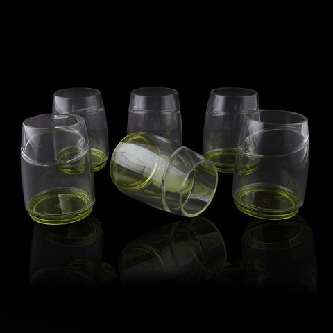 Acrylic Fancy Glass (6 Pcs Set) - Green - test-store-for-chase-value