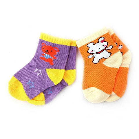 Kids Cotton Socks Pack Of 2 - Multi - test-store-for-chase-value