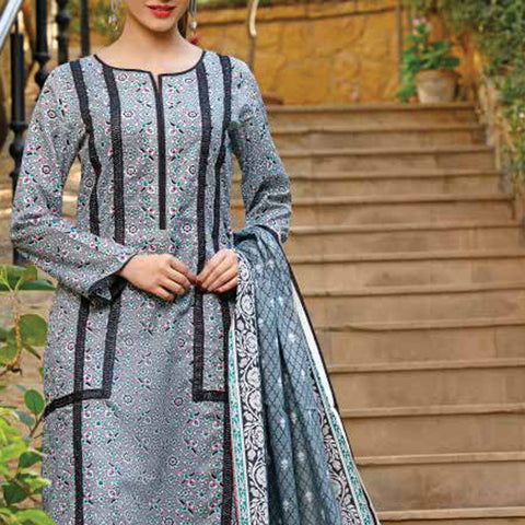 VS Signature Printed Lawn 3 Piece Un-Stitched Suit Vol 2 - 14 B