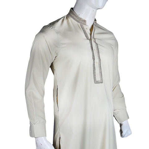 Men's Embroidered Kameez Shalwar - Green - test-store-for-chase-value