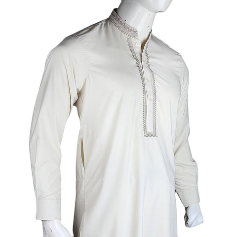 Men's Embroidered Kameez Shalwar - Light Green - test-store-for-chase-value