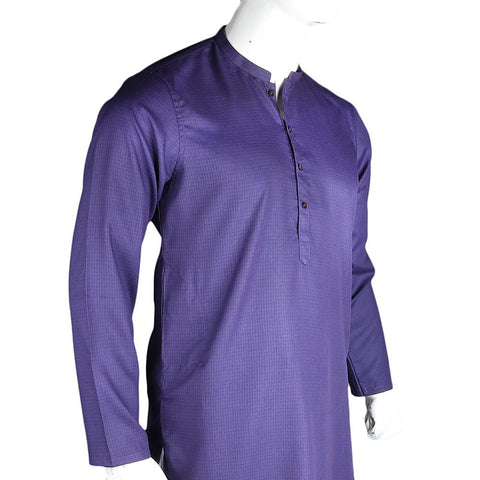 Men's Basic Slim Fit Kurta - Purple - test-store-for-chase-value