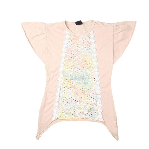 Girls A-Line T-Shirt - Beige - test-store-for-chase-value