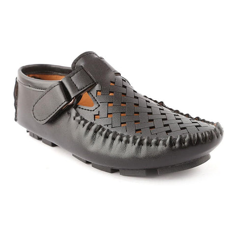 Boys Roman Sandals 502 - Black - test-store-for-chase-value