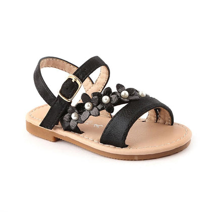 Girls Fancy Sandals 123-2 (19-24) - Black - test-store-for-chase-value