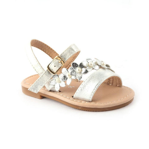 Girls Fancy Sandals 123-2 (19-24) - White - test-store-for-chase-value