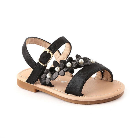 Girls Fancy Sandals 123-2 (25-36) - Black - test-store-for-chase-value