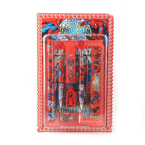 Spider Man Stationery Set - Red - test-store-for-chase-value