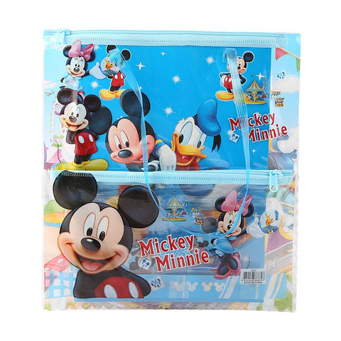 Mickey & Mini Stationery Bag - Blue - test-store-for-chase-value