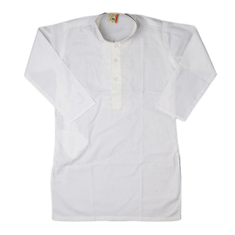 Boys Kameez Shalwar - White - test-store-for-chase-value