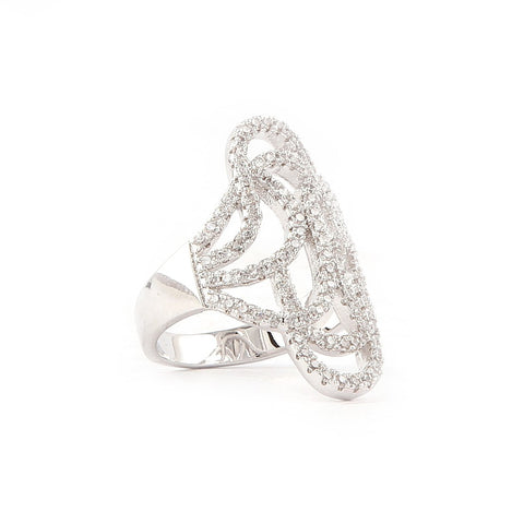Zircon Finger Ring - Silver - test-store-for-chase-value