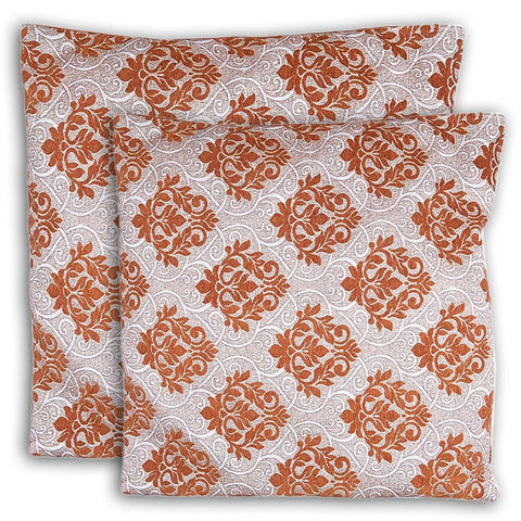 Floor Cushion Covers 2 Pcs Set - Mustard - test-store-for-chase-value
