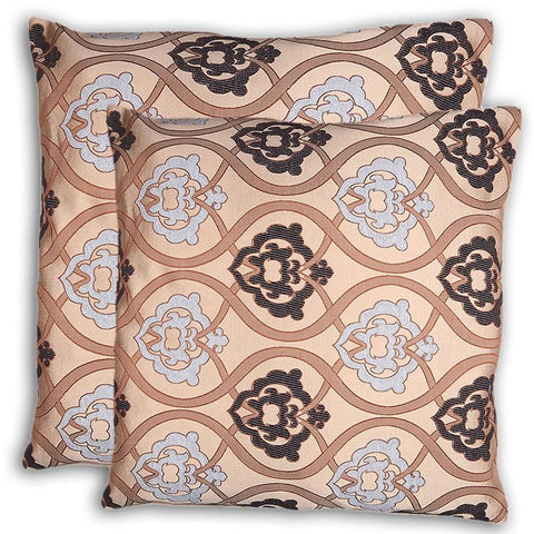 Floor Cushion Covers 2 Pcs Set - Beige - test-store-for-chase-value