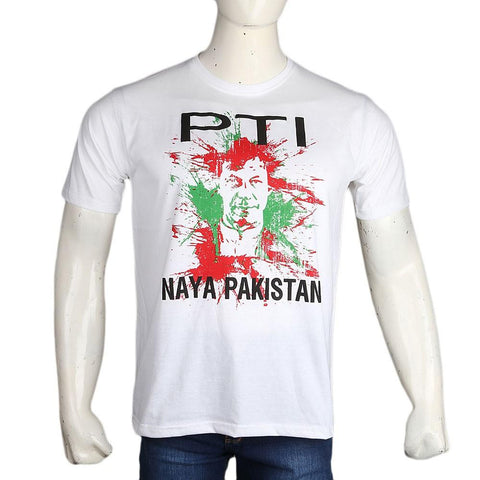 PTI Election T-Shirt For Men - White - test-store-for-chase-value