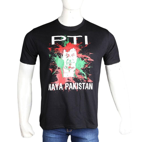 PTI Election T-Shirt For Men - Black - test-store-for-chase-value