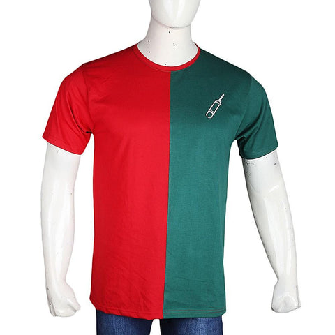 PTI Election T-Shirt For Men - Red & Green - test-store-for-chase-value