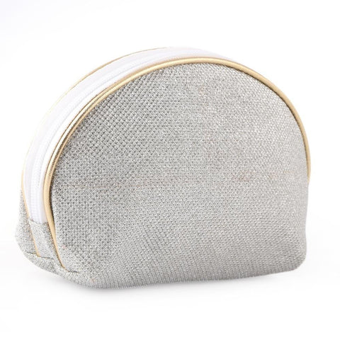 Makeup Pouch Large - Silver - test-store-for-chase-value