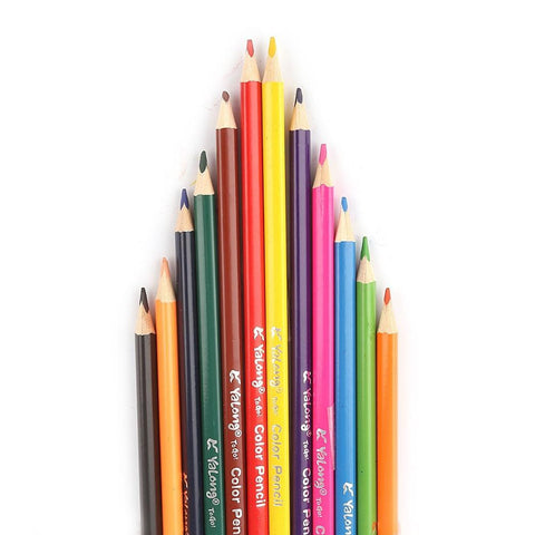 Color Pencils 12 Pcs Set - Multi - test-store-for-chase-value