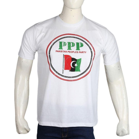 PPP Election T-Shirt For Men - White - test-store-for-chase-value