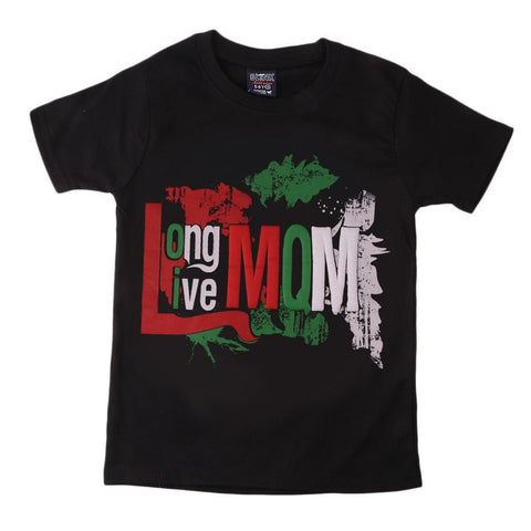 MQM Election T-Shirt For Boys - Black - test-store-for-chase-value