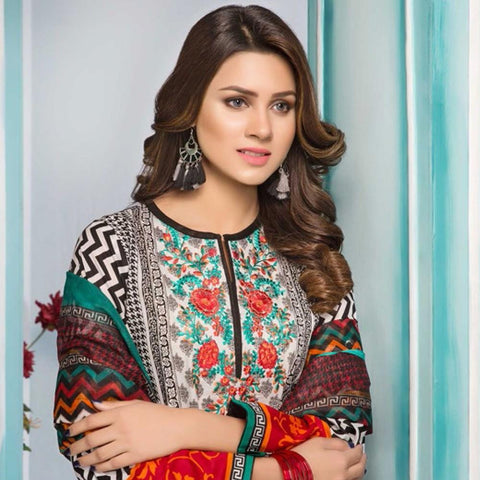 Noor Jahan Embroidered Lawn Suit - 14 - test-store-for-chase-value