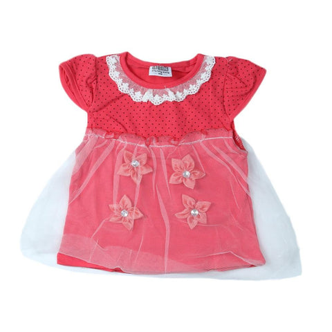 Newborn Girls Frock - Red - test-store-for-chase-value