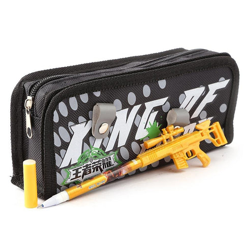 Gun Pencil Pouch - Black - test-store-for-chase-value