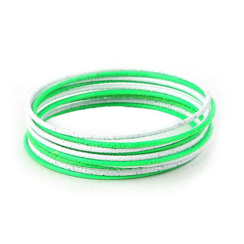 14th August Bangles - Green & White - test-store-for-chase-value