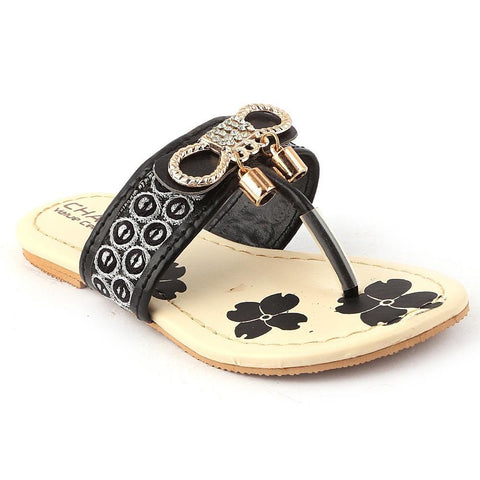 Girls Fancy Slippers - K-09 - Black - test-store-for-chase-value