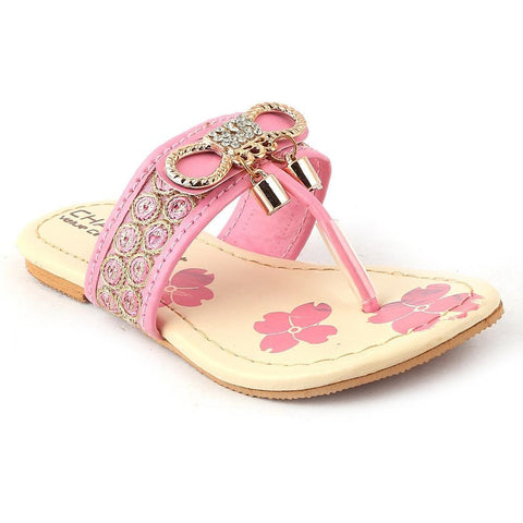 Girls Fancy Slippers - K-09 - Pink - test-store-for-chase-value