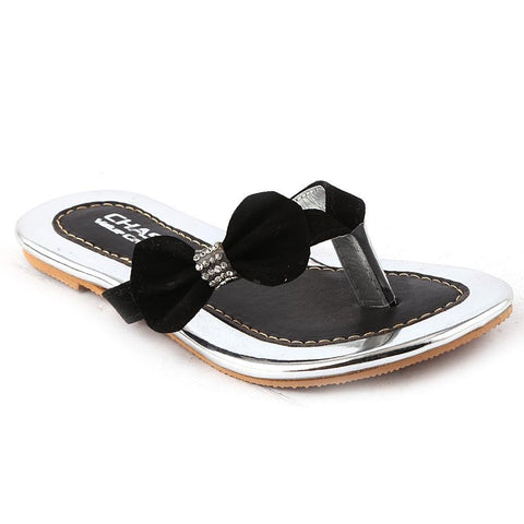 Girls Fancy Slippers - K-011 - Black - test-store-for-chase-value